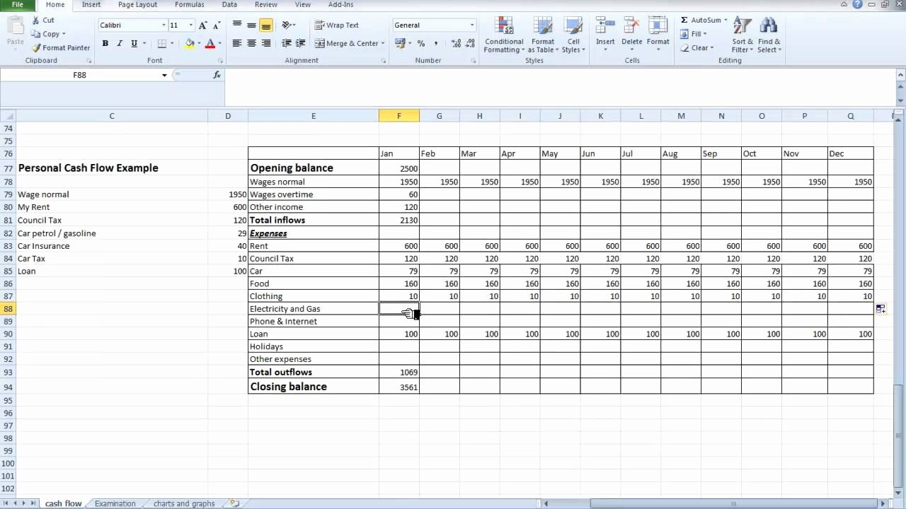 Cash Flow Analysis Template Unique Free Spreadsheet Cash Flow Samplebusinessresume
