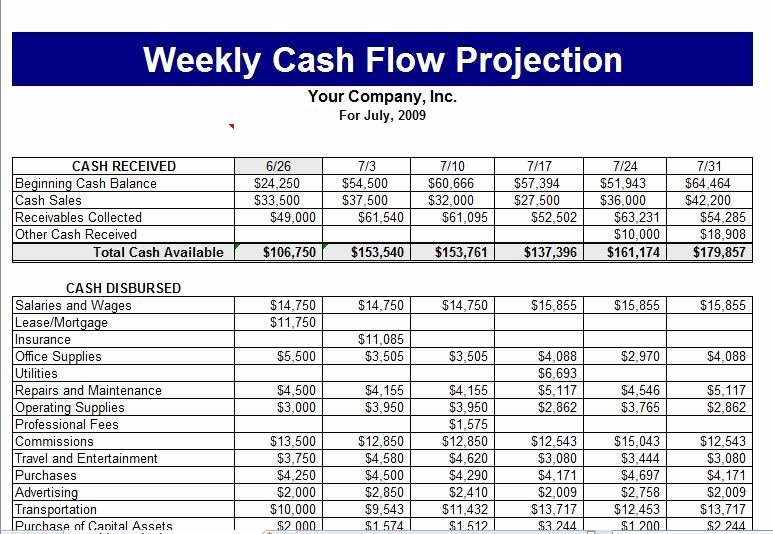 Cash Flow Chart Template Elegant Cash Flow Template