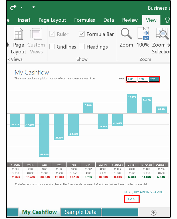 Cash Flow Chart Template Inspirational Meet Excel 2016 9 Of Its Best New Features From