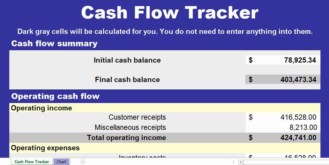 Cash Flow Chart Template Unique Cash Flow Chart Template