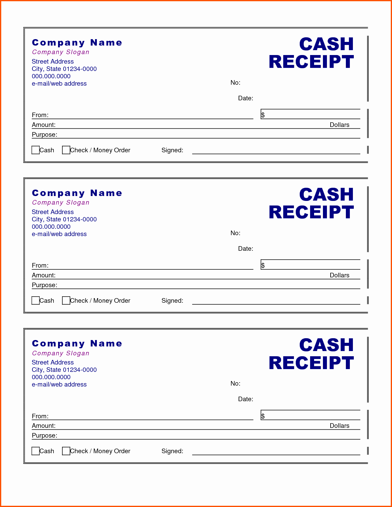 Cash Receipts Template Excel Awesome Cash Receipt form Examples Vatansun
