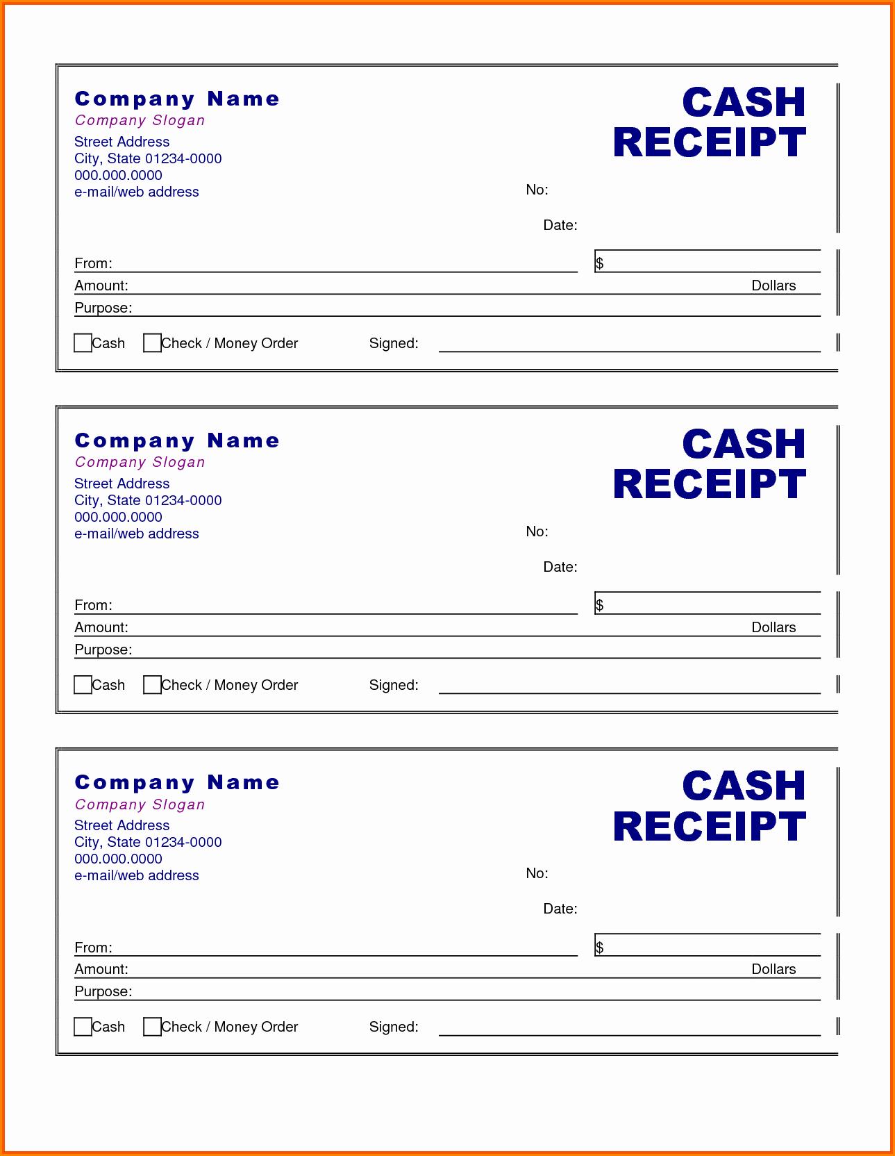 Cash Receipts Template Excel Fresh 6 Cash Receipt Template Excel