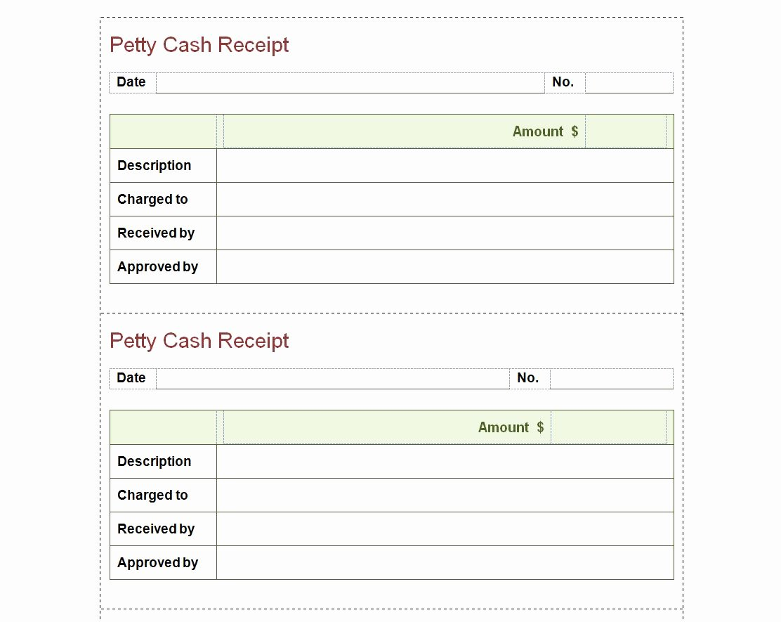 Cash Receipts Template Excel Fresh Petty Cash Receipt Template