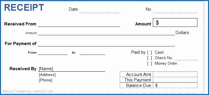 Cash Receipts Template Excel Lovely 7 Cash Payment Receipt Sample
