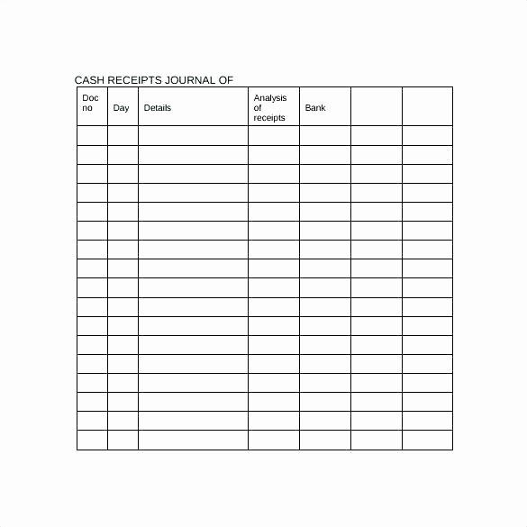 Cash Receipts Template Excel Luxury Petty Cash Log Template Free Download Receipt Journal