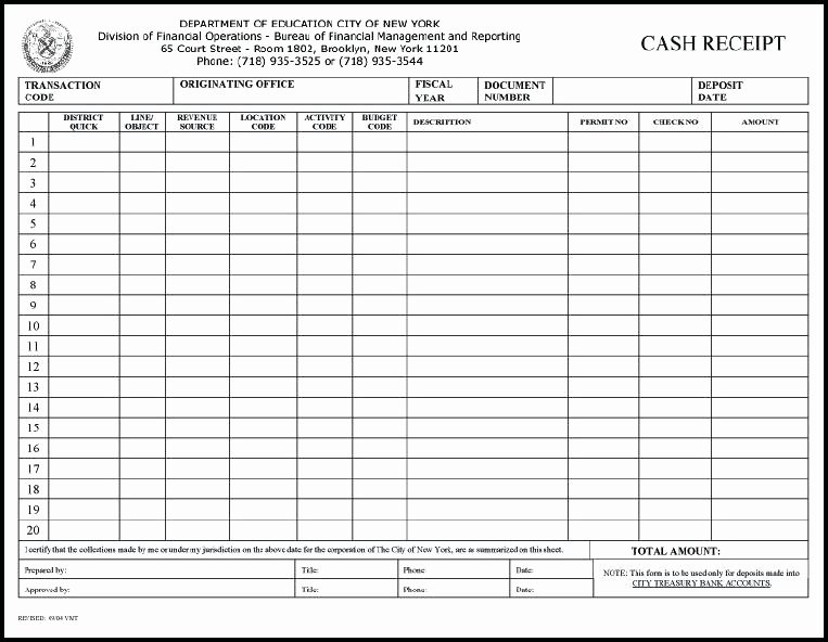 Cash Receipts Template Excel New Cash Receipt Journal Template Receipts for Payment Samples