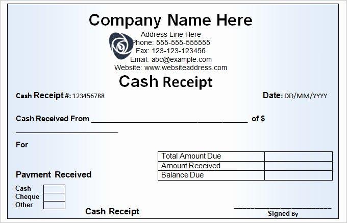 Cash Receipts Template Excel Unique Cash Receipt Template 16 Free Word Excel Documents