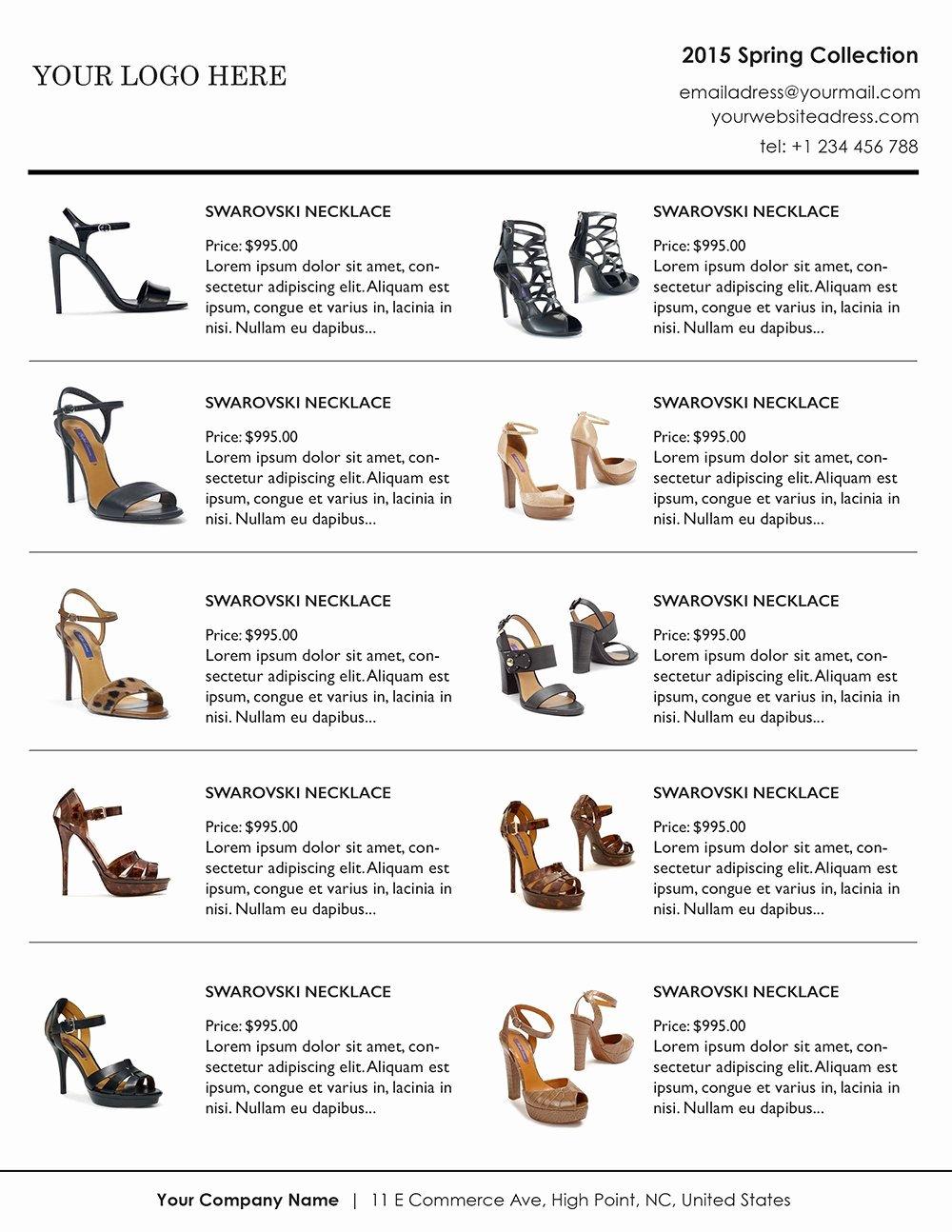 Catalogue Template for Word Elegant Vertical Line Sheet wholesale Catalog Template Mini