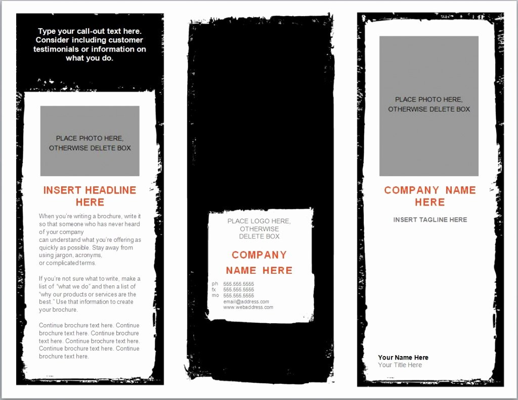 Catalogue Template for Word Inspirational Word Brochure Template
