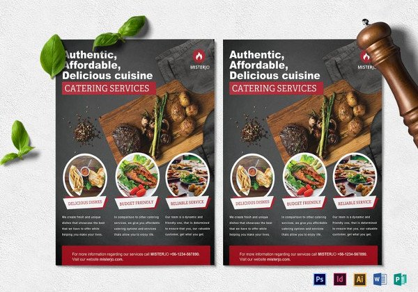 Catering Flyer Template Free Beautiful 24 Catering Flyers Psd Ai Illustrator Download