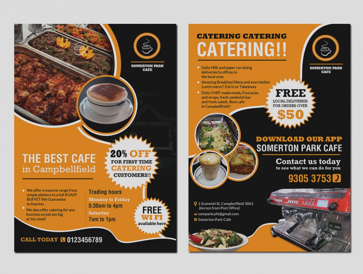 Catering Flyer Template Free Beautiful Catering Flyer Examples Filename
