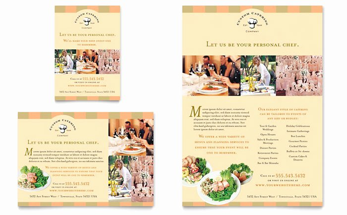 Catering Flyer Template Free Beautiful Catering Pany Flyer & Ad Template Design