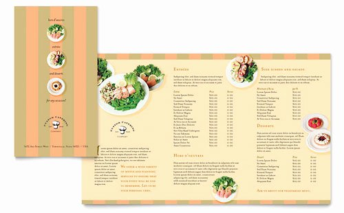 Catering Flyer Template Free Elegant Catering Pany Take Out Brochure Template Design
