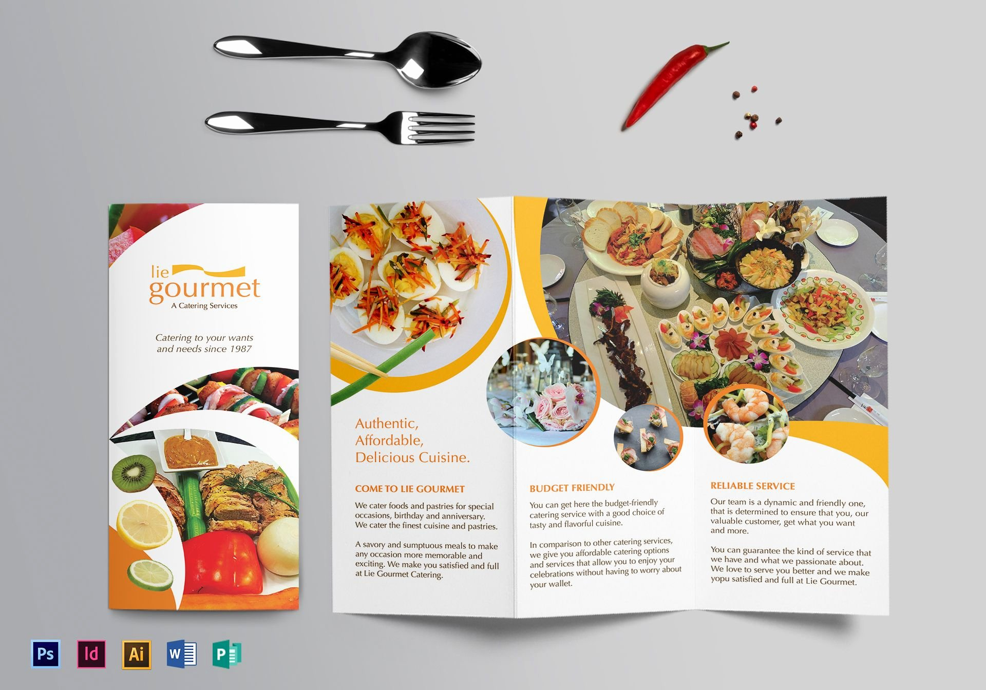 Catering Flyer Template Free Fresh Catering Brochure Design Template In Psd Word Publisher