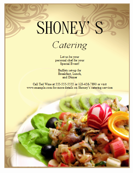 Catering Flyer Template Free Fresh Catering Flyer Template Publisher Flyers