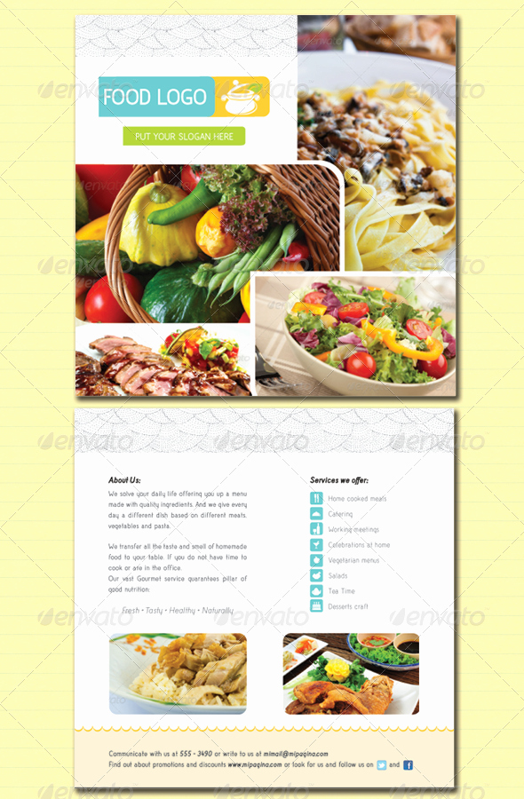 Catering Flyer Template Free Fresh Flyer Food Service and Catering by Tatysol