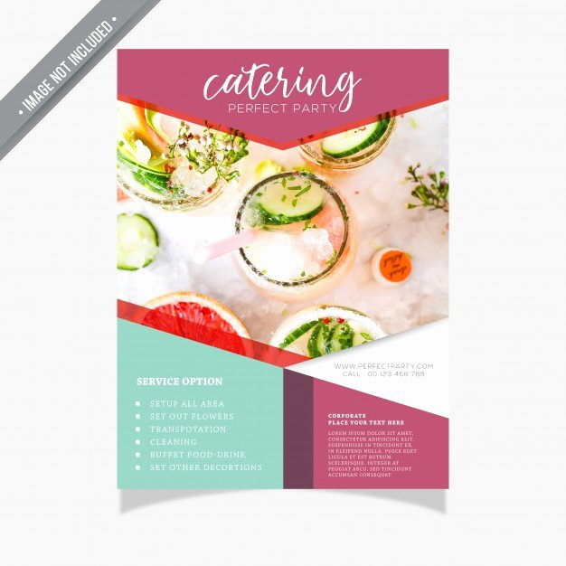 Catering Flyer Template Free Inspirational Catering Brochure Template Vector