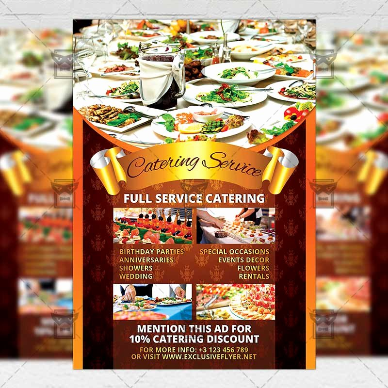 Catering Flyer Template Free Inspirational Catering Service – Food A5 Flyer Template