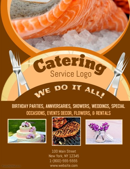 Catering Flyer Template Free Inspirational Catering Template