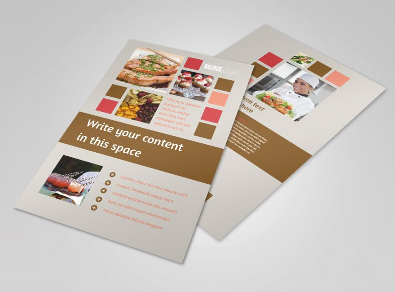 Catering Flyer Template Free Lovely Catering & event Planning Flyer Template