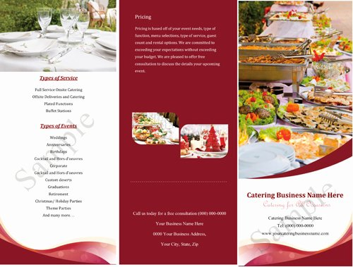 Catering Flyer Template Free Lovely Catering Quotes Samples Informal Quotesgram