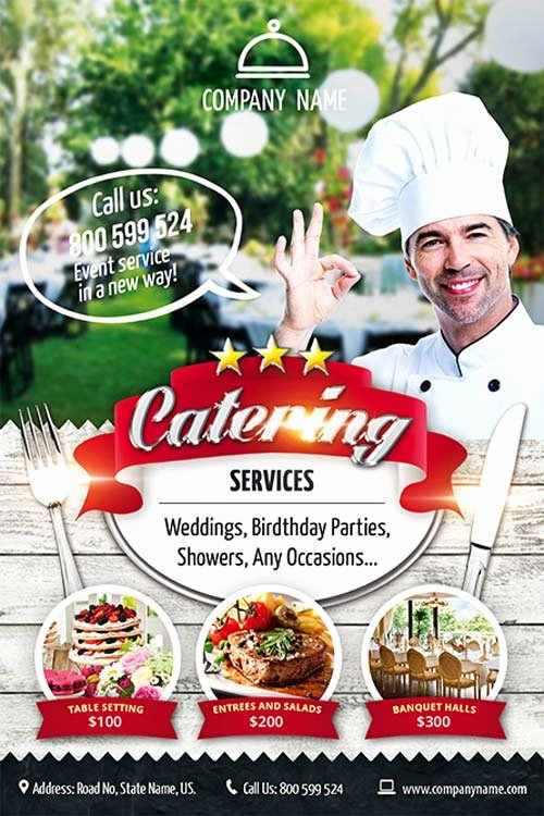 Catering Flyer Template Free Lovely Catering Service Free Flyer Template Download Psd for