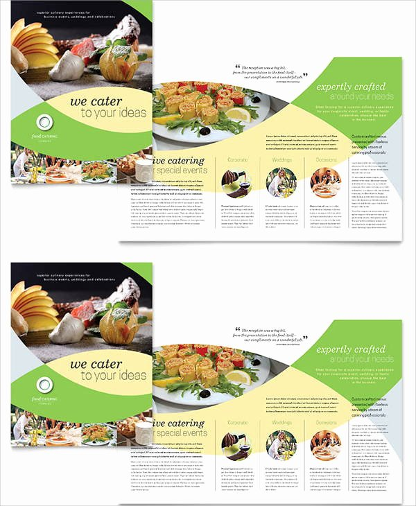 Catering Flyer Template Free Luxury 8 Corporate Catering Brochures Designs Templates