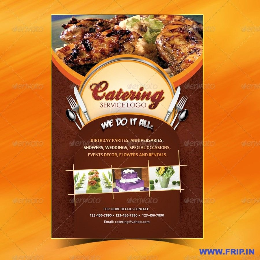 Catering Flyer Template Free New 100 Great Restaurant Food Menu Print Templates 2016