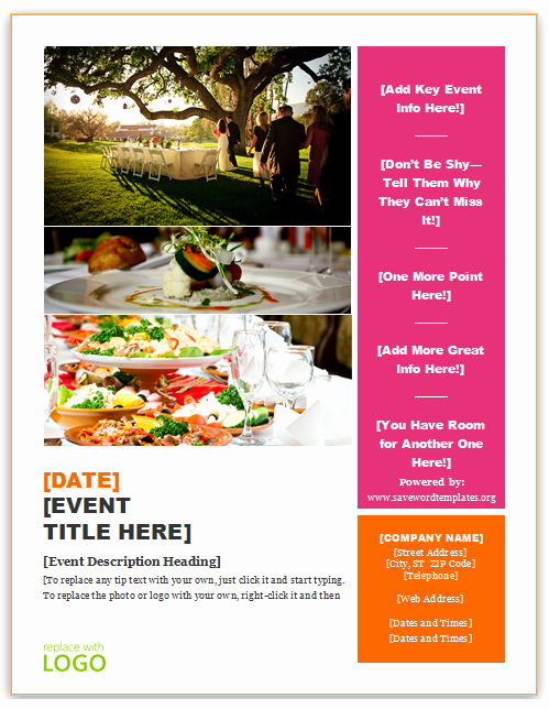 Catering Flyer Template Free New Catering Flyer Template