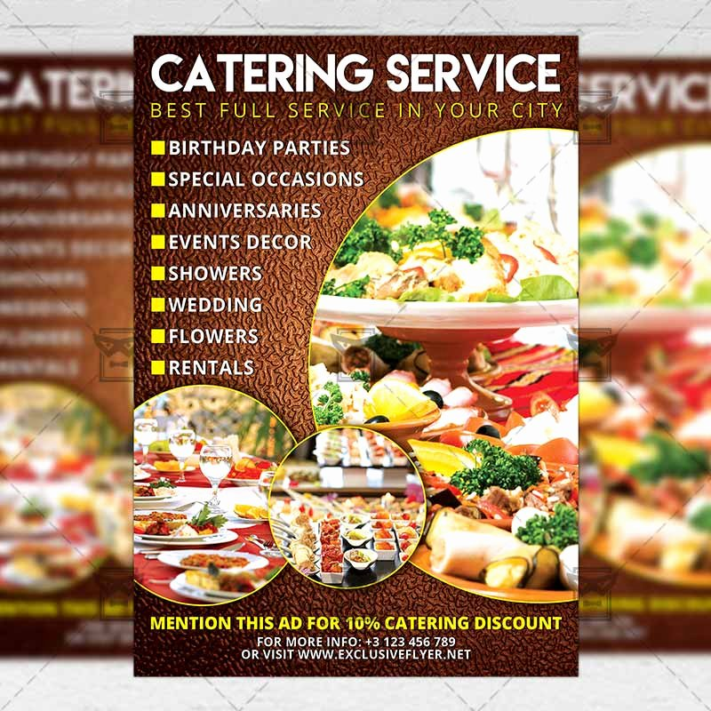 Catering Flyer Template Free New Catering – Food A5 Flyer Template Exclsiveflyer