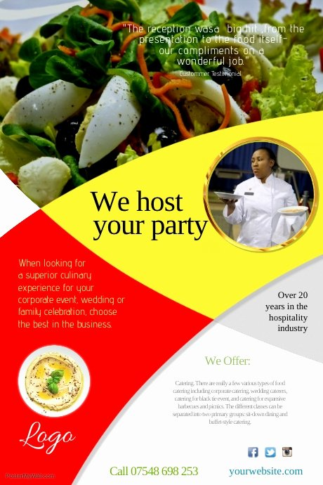 Catering Flyer Template Free New Catering Pany Leaflet Template