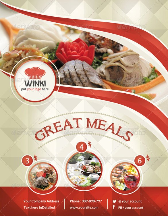 Catering Flyer Template Free Unique 23 Catering Flyers Psd Ai Vector Eps