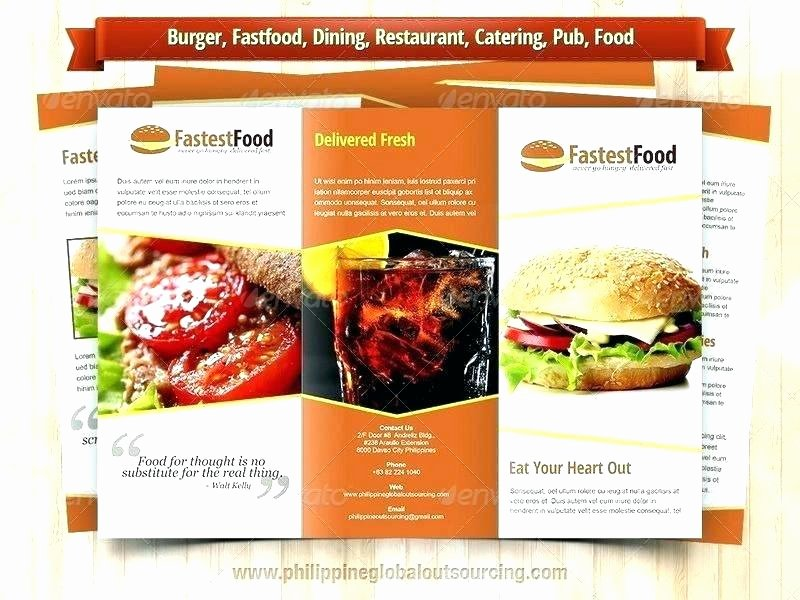 Catering Flyer Template Free Unique Catering Brochure Templates – Graffitiurreality