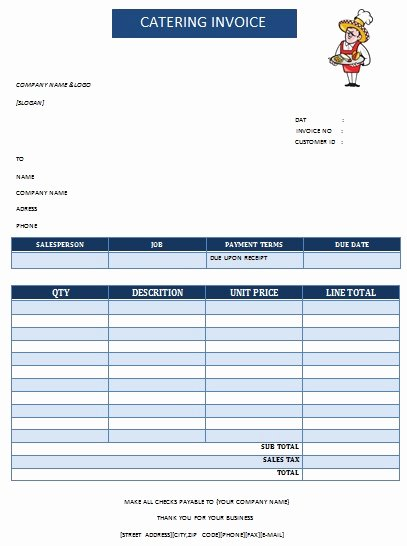 Catering Invoice Template Pdf Awesome 28 Catering Invoice Templates Free Download Demplates