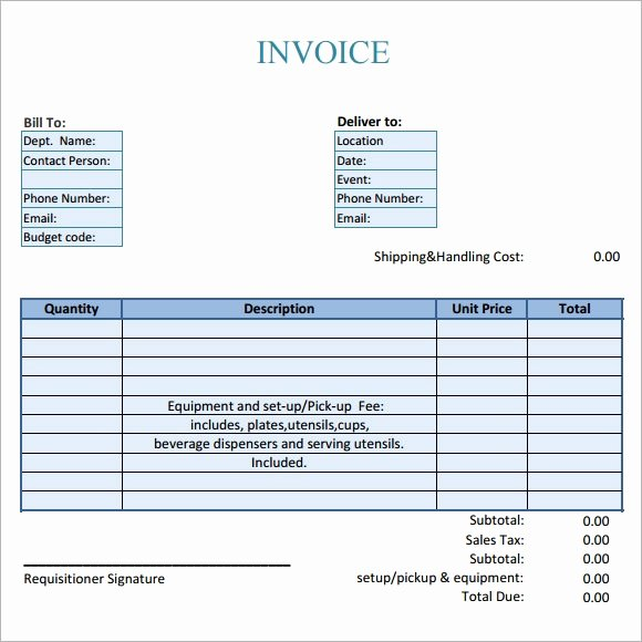 Catering Invoice Template Pdf Unique Catering Invoice Template Free Download the Story Ah