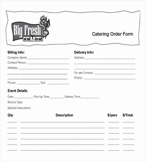 Catering order form Template Free Luxury 18 Food order Templates – Docs Word