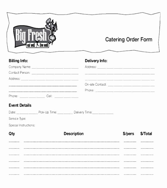 Catering order form Template Luxury 6 Printable Voting Ballot Template