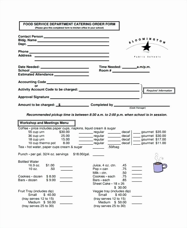 Catering order form Template Word Awesome Sample Invoice Word Document Download Template Simple