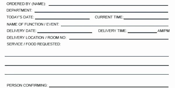 Catering order form Template Word Awesome Service Request form Template Word – Edunova
