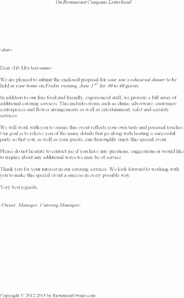 Catering Proposal Template Pdf Awesome Pany Profile Business Information I Name Catering