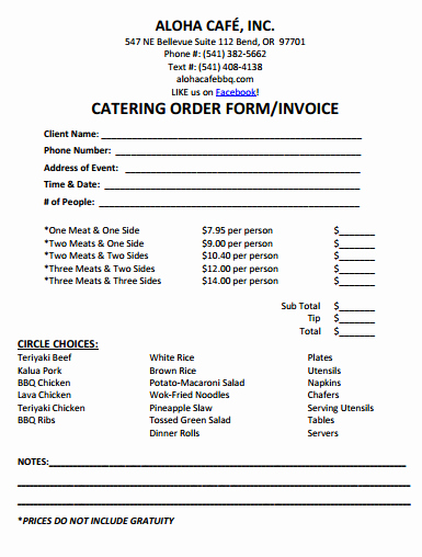 Catering Proposal Template Pdf Best Of 28 Catering Invoice Templates Free Download Demplates
