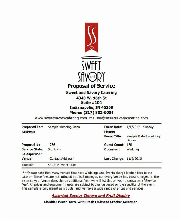 Catering Proposal Template Pdf Best Of 5 Catering Proposal Template – Examples In Word Pdf