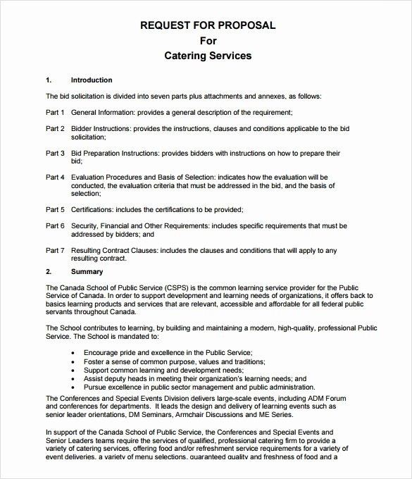 Catering Proposal Template Pdf Elegant Catering Proposal Letter