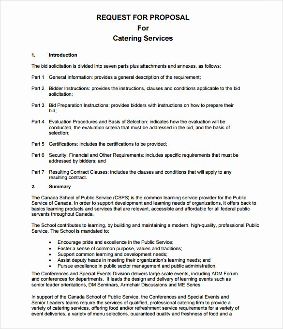 Catering Proposal Template Pdf Lovely 7 Catering Proposal Samples