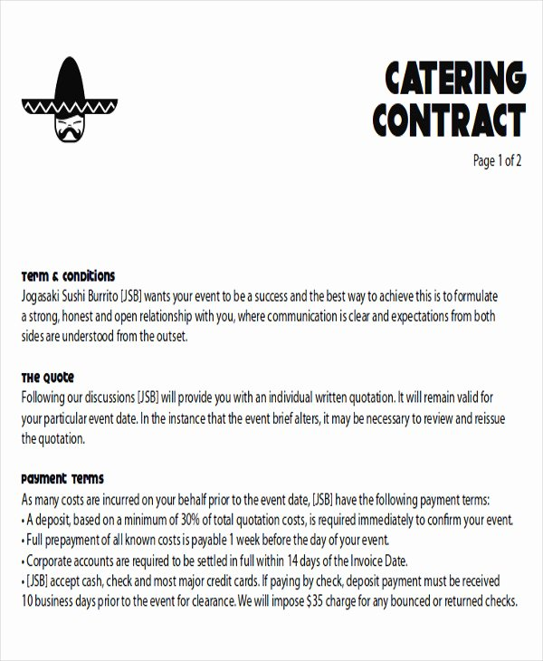 Catering Proposal Template Pdf Luxury 8 Sample Catering Proposal Letters – Pdf Doc