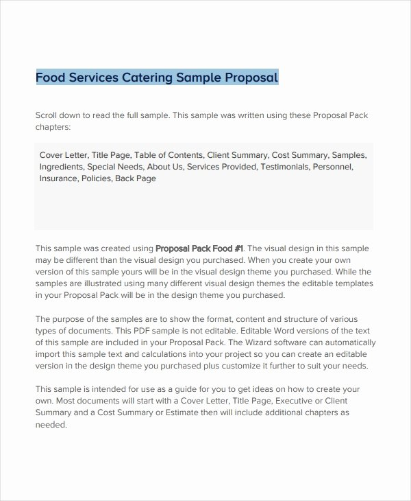 Catering Proposal Template Pdf New 11 Catering Proposal Examples Pdf Doc Psd Ai