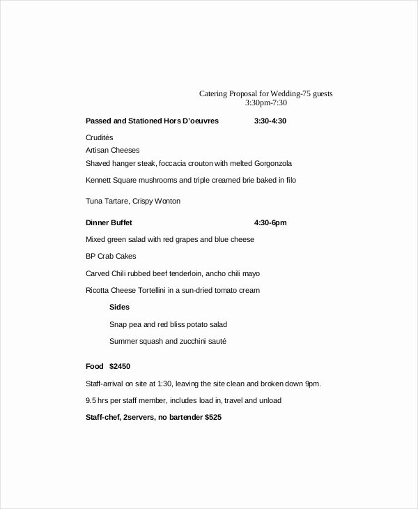 Catering Proposal Template Word Best Of Catering Proposal Template 9 Free Word Pdf Documents