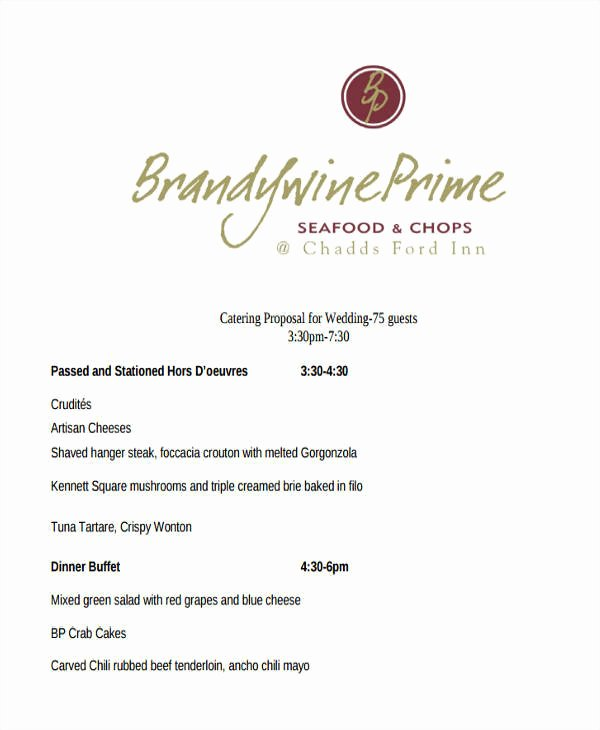 Catering Proposal Template Word Fresh 5 Catering Proposal Template – Examples In Word Pdf