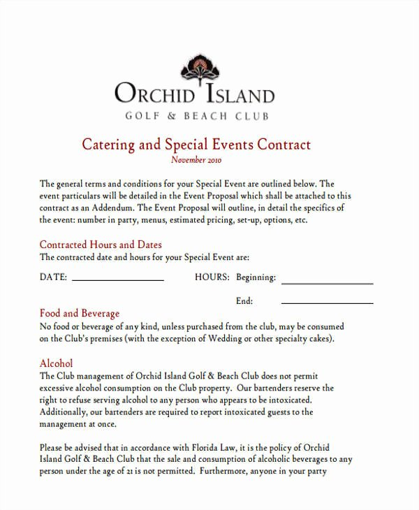 Catering Proposal Template Word Luxury 5 Catering Proposal Template – Examples In Word Pdf