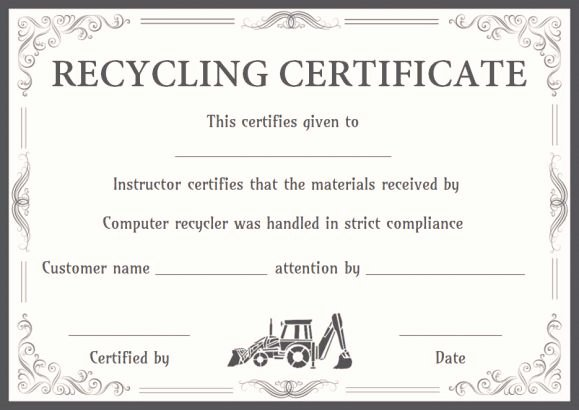 Certificate Of Destruction Template Best Of 8 Free Customizable Certificate Of Destruction Templates